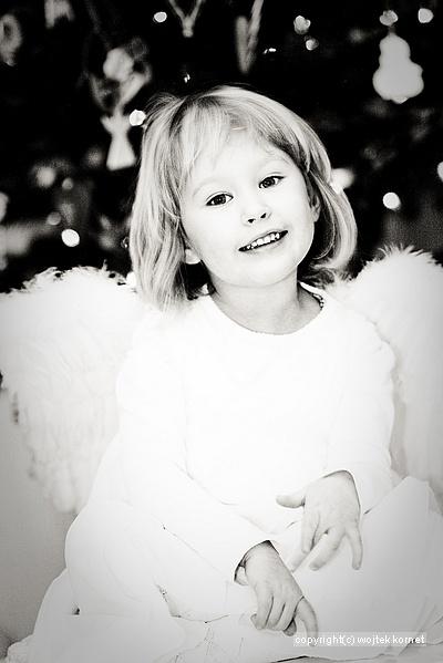 Świąteczne anioły ulotne