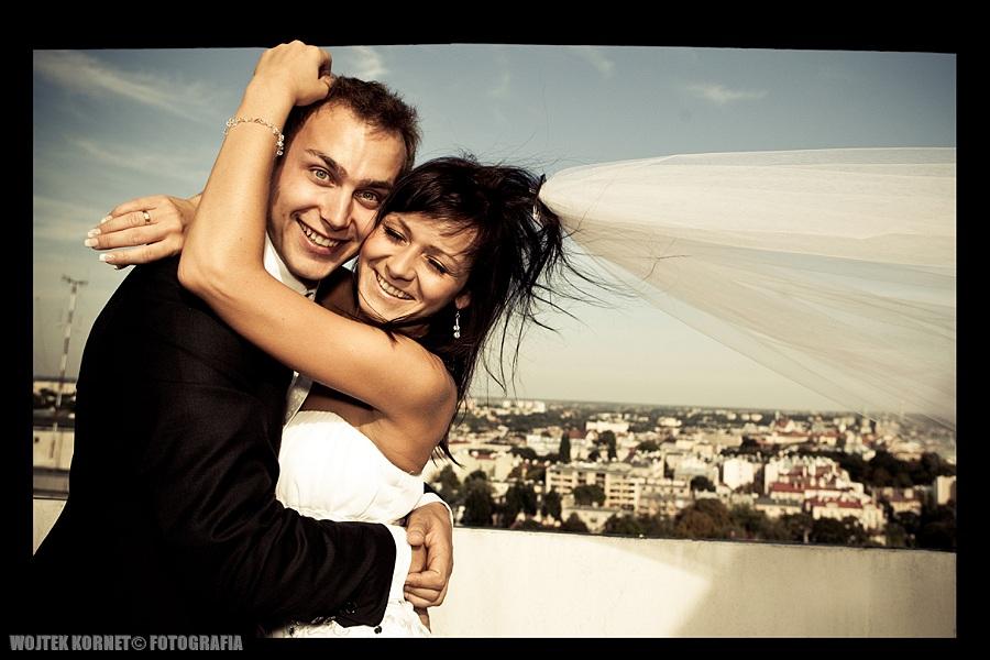 Magda i Wojtek – just married high tower   plener ślubny