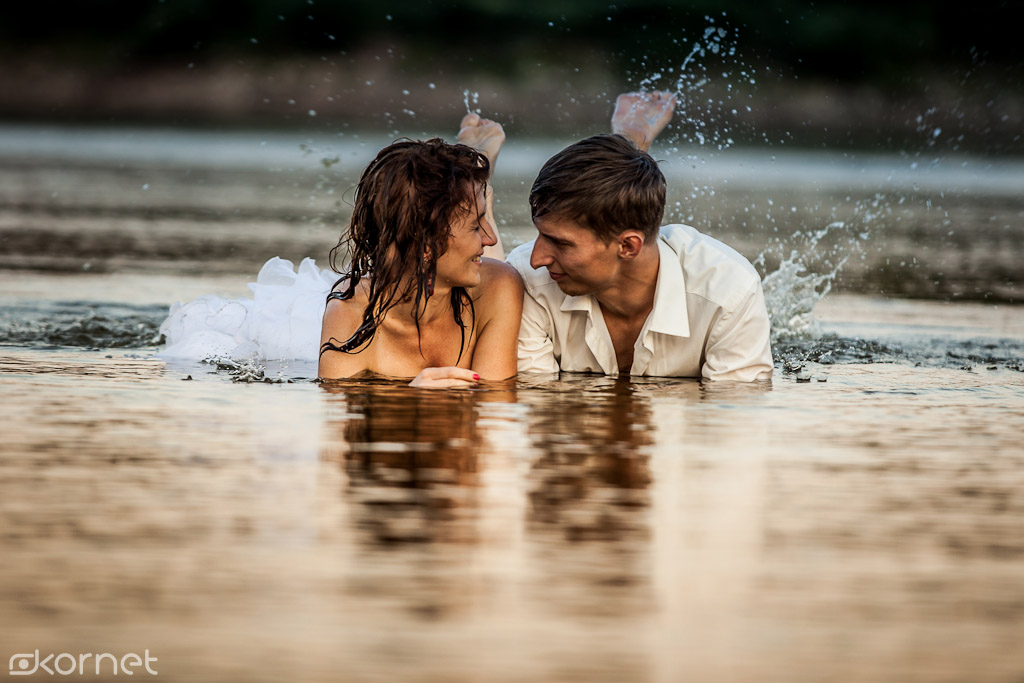 Aldona & Piotr | sesja Ślubna – czyli trochę wody dla ochłody :)