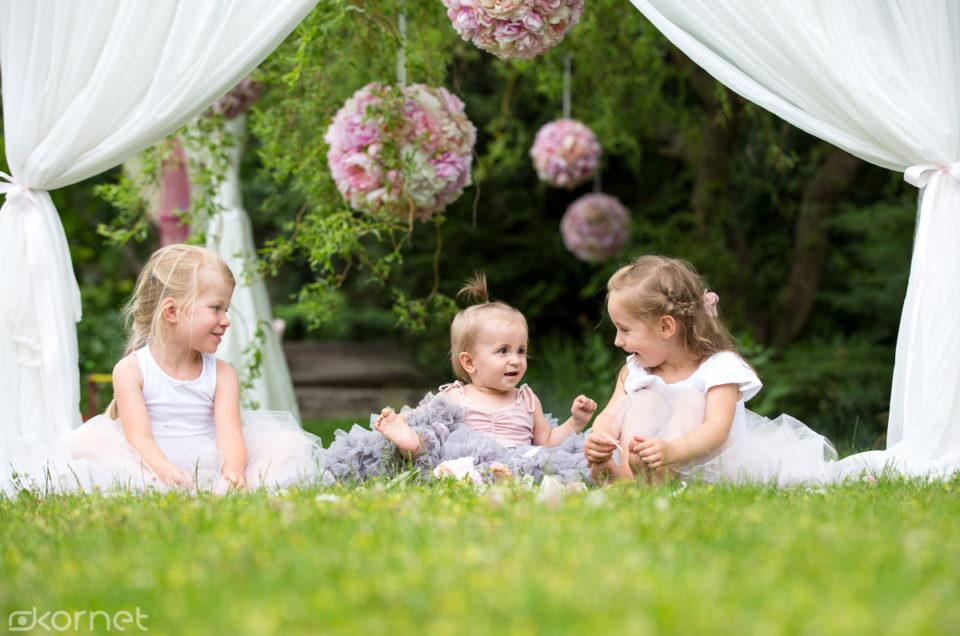 Trzy księżniczki | plenerowa sesja dziecięca